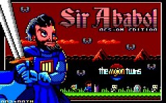 Title screen of Sir Ababol: NES-OM Edition