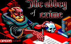 Title screen of The Abbey of Crime